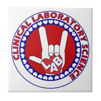 iLove LAB Round LABORATORY SCIENTIST Tile