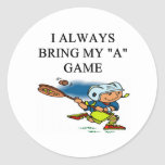 ilove lacrosse round stickers
