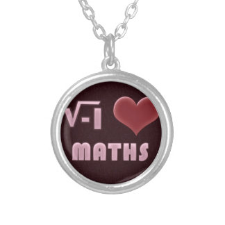 ILOVE MATHS - RED MODEL SILVER PLATED NECKLACE