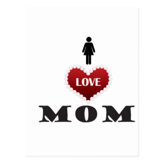 ilove mom postcard