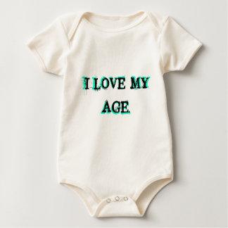 Ilove my Age.txt line art Baby Bodysuit