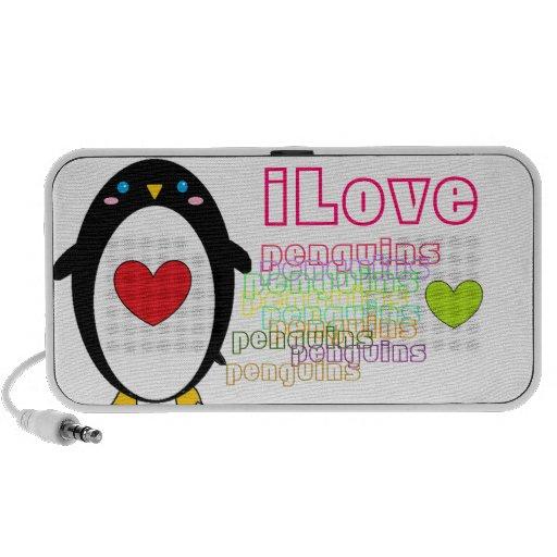 ILove penguins Mp3 Speakers