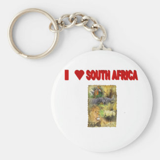 ILove South Africa Wildlife Collage Key Chain