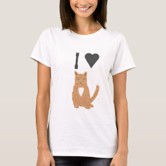 ILove this tee shirts Ginger Cat picture