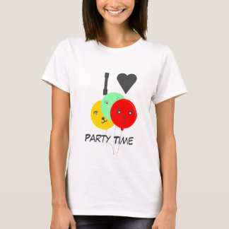 ILove this tee shirts Party Time Smiling Balloons