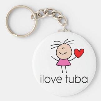 iLove Tuba Gift Keychain