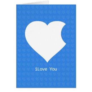 iLove You Card-blue Greeting Card