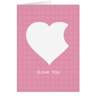 iLove You Card-pink Greeting Card