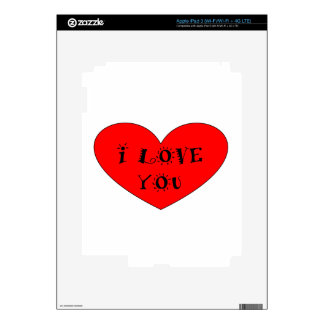 ILOVE YOU DECALS FOR iPad 3