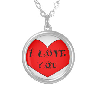 ILOVE YOU SILVER PLATED NECKLACE