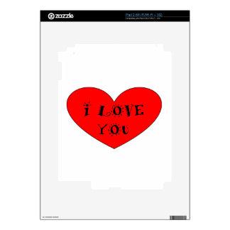 ILOVE YOU SKIN FOR iPad 2