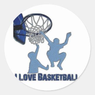 ILoveBasketball Fast Break Classic Round Sticker