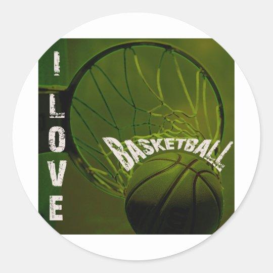 ILoveBasketball The Rock Classic Round Sticker