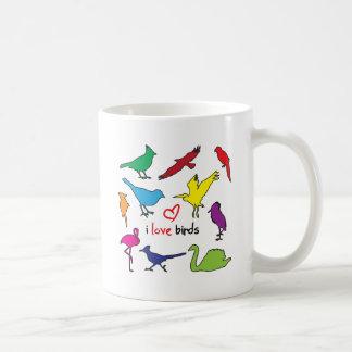 ilovebirds taza básica blanca