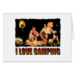 ILoveCamping Camp Fire Greeting Card