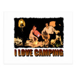 ILoveCamping Camp Fire Post Card