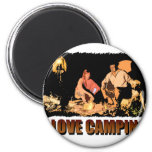 ILoveCamping Camp Fire Refrigerator Magnets