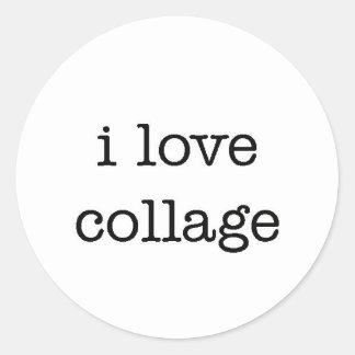 ilovecollage classic round sticker