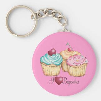 ILoveCupcakes Basic Round Button Keychain