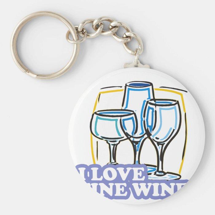 ILoveFineWine Keychain