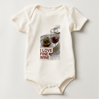 ILoveFineWine Red Wine Baby Bodysuit