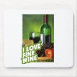 ILoveFineWine White Wine Mouse Pads