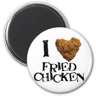 ilovefriedchicken 2 inch round magnet