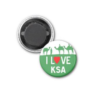 iLoveKSA 1 Inch Round Magnet