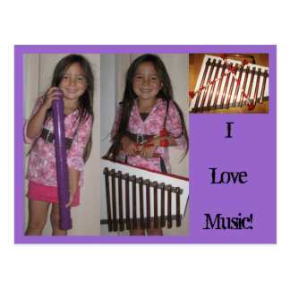 ILoveMusic! Postcard