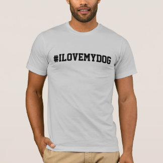 #ILOVEMYDOG Men's Basic American Apparel T-Shirt