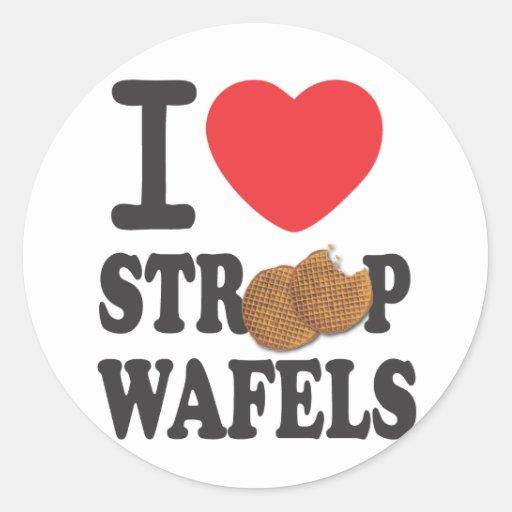 iLoveStroopwafels.com Sticker