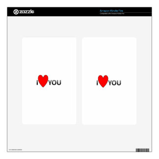 ILOVEU DECALS FOR KINDLE FIRE