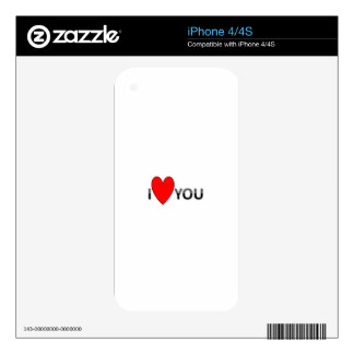 ILOVEU SKIN FOR THE iPhone 4