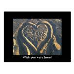 ¡Iloveyou, desea que usted estuviera aquí! Postal