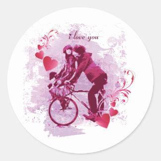 iloveyou pegatina redonda