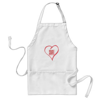 iloveyou_scancode_redheart adult apron