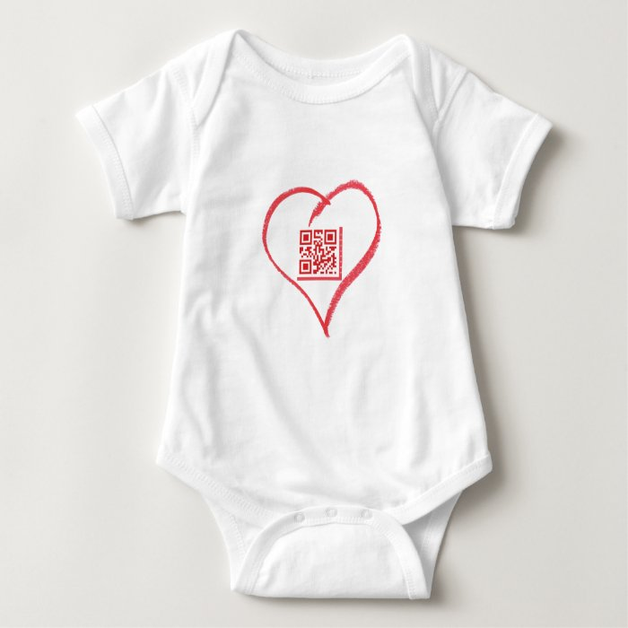iloveyou_scancode_redheart baby bodysuit