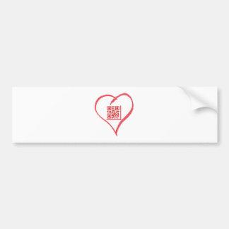 iloveyou_scancode_redheart bumper stickers