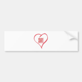 iloveyou_scancode_redheart pegatina para auto