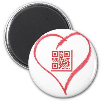 iloveyou_scancode_redheart imán redondo 5 cm
