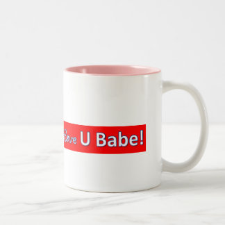 iloveyoubabe Two-Tone coffee mug