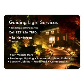 Iluminación ajardinando tarjetas de visita