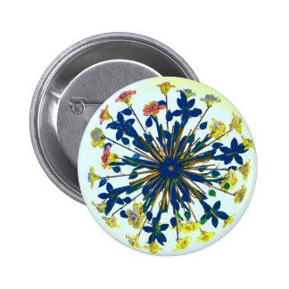 Iluminación de cerámica floral circular del pin redondo de 2 pulgadas