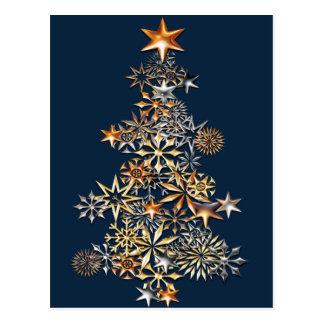Iluminación del árbol tarjetas postales
