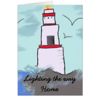 Iluminación del camino de casa tarjeton