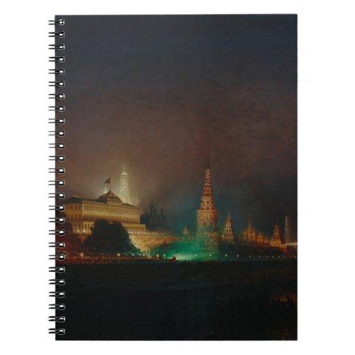 Iluminación del Kremlin, 1883 (aceite en lona) Libros De Apuntes