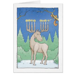 iluminación del moosnorah tarjeta de felicitación