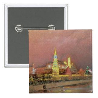 Iluminación en el Kremlin, 1896 Pin Cuadrada 5 Cm