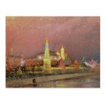 Iluminación en el Kremlin, 1896 Postales