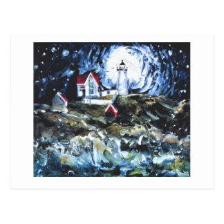 Iluminación encima de la noche tarjetas postales